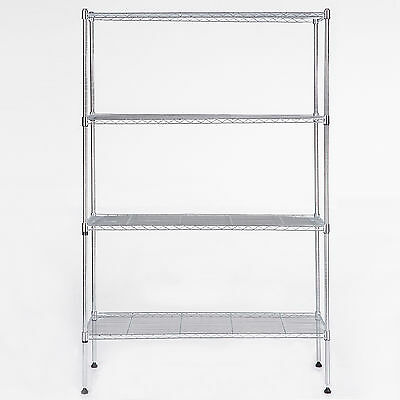 "4 Tier 55"" x36"" x14"" Adjustable Wire Shelving Rack Heavy Duty Chrome Steel Shelf"