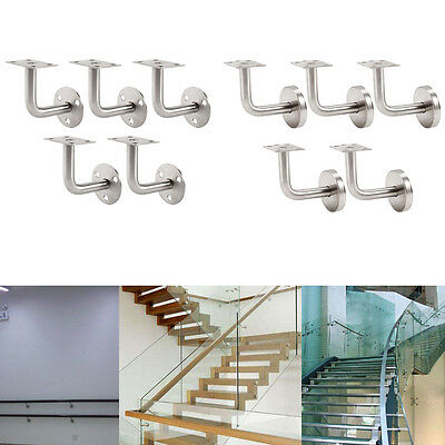 5 Handrail Stair Brackets Hand Rail Bracket Bannister Support Stair or W Cover