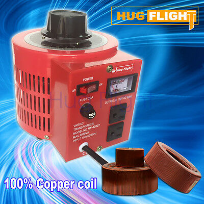 Hug Flight 20 AMP Variac Autotransformer Voltage Regulator Powerstat 500VA
