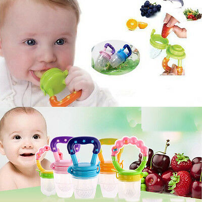 Baby Pacifier Feeding Fresh Food Supplies Safe Nibbler Feeder Tool Green L