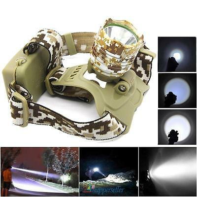 NEW! Cree XM-L T6 5000LM LED Headlamp HeadLight Light Lamp 18650