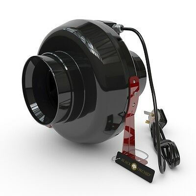 Black Orchid Inline Centrifugal Hydroponic Grow Room Extractor Fan 4 5 6 8 10 12