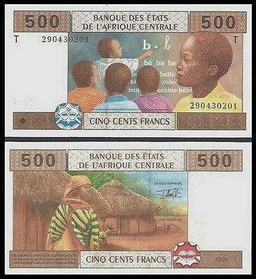 CONGO 500 FRANCS 2002 (Central African St.) P 106T UNC OFFER !