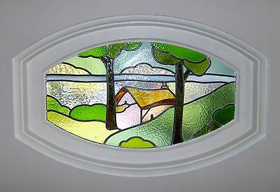 4 Oval Stained Glass Windows
