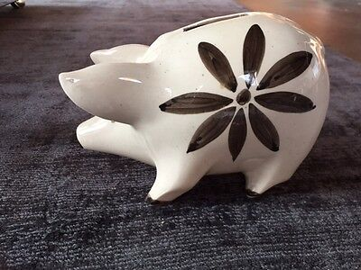 Vintage David Sharp Pig Piggy Bank Rye Pottery
