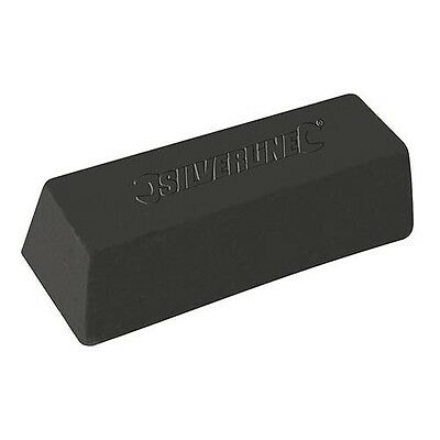 Silverline Black Polishing Compound - Coarse Buffing Bar For Steel & Iron - 500g