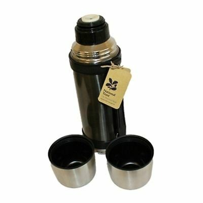 New Travel Hiking Ramblers National Trust 1.1L Stainless Steel Flask with 2 Cups