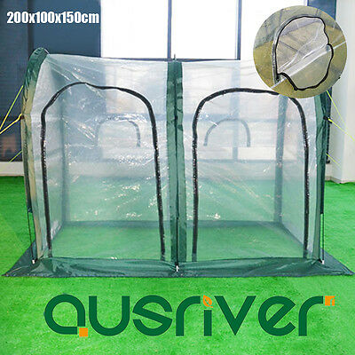 200x100x150cm Greenhouse Green House PE Cover Insect Screen Plant Warm Shed UV