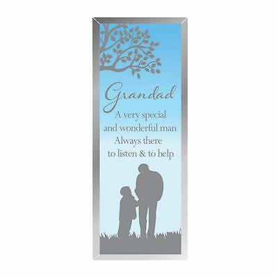 Reflections of the Heart Mirror Glass Standing Plaque Gift – Grandad