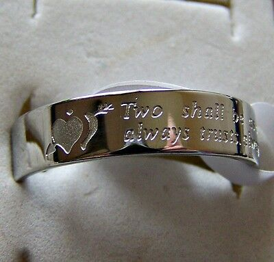 Love  _ Pledge _ Ring  ~ S/steel  ~ Size:8 -- (Great_Christmas_Gift)