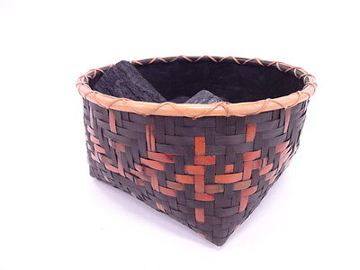 2880115: Japanese Tea Ceremony / Sumitori-Kago (Charcoal Basket) / Woven Bamboo