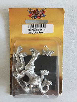 Mongoose Publishing Mighty Armies Orc Dark Elf War Hydra Tamer Warmaster Metal