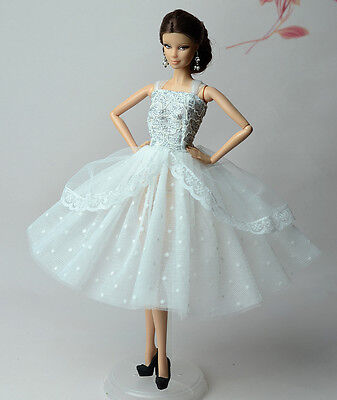 Lovely Fashion White Dress/Clothes/Ballet Dress For 11.5in.Doll S534U