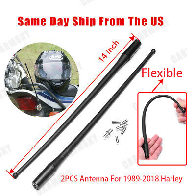 Black 14'' Antenna for 1989-2017 Harley Davidson Electra,Road,Tour,Ultra Classic