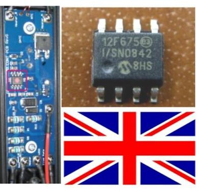 10 New GHD genuine 12f675 IC for 4.0, 4.1 and 4.2 (MK 5 read notes) Repairs PCB