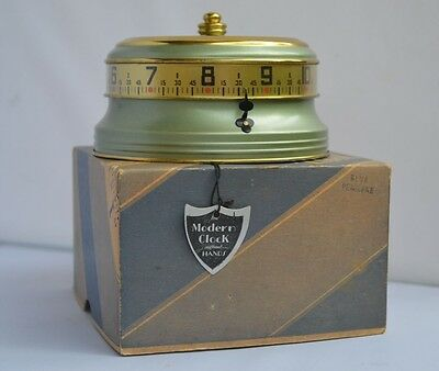 Lux Mystery Clock Rotary Tape Measure In Box Working USA 1935 Vintage Wow Mantle