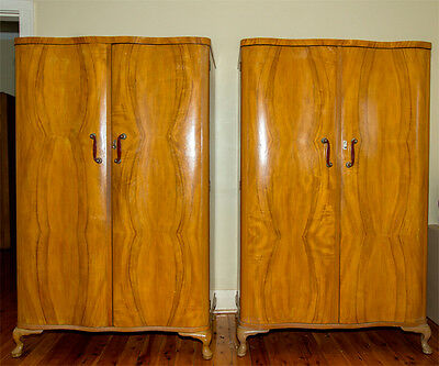 Pair Of  Art Deco Style Wardrobes