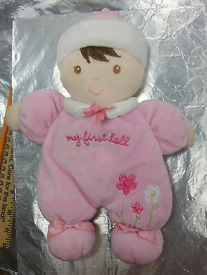 "CARTERS Child of Mine Baby's 8"" My First 1st DOLL 88878 PLUSH Soft RATTLE Toy"