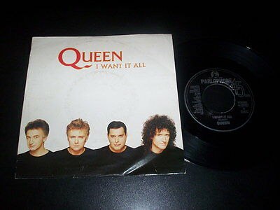 "Queen ‎– I Want It All 7"" Parlophone 06 2033607 Italy 1989"