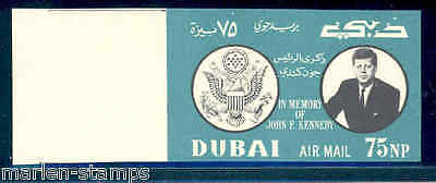 DUBAI 1964 JOHN F KENNEDY 75 Np DARK GREEN VALUE WITHOUT 22 NOVEMBER In Red