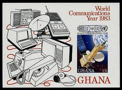 Ghana Scott# 840 Communications Year Imperf S/sht Mnh