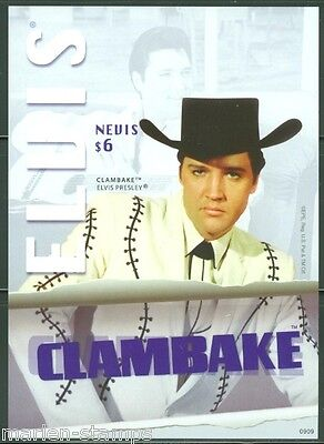 Nevis  Elvis Presley  'clam Bake'  Imperforate S/s Scott#1566 Mint Nh