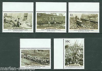 Barbados Centenary Of The Opening Of The Panama Canal Set Mint Nh