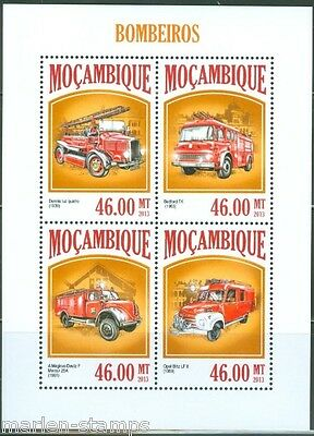 Mozambique 2013 Fire Engines Sheet   Mint Nh