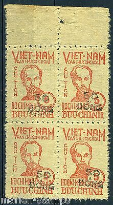 Vietnam 50 Block Of Four  Mint Never Hinged As Shown Extremely Rare