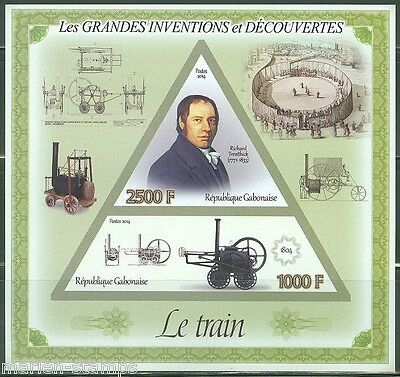 Gabon 2014 Great Invention & Discoveries Richard Trevithick Sheet Imperf Mint Nh