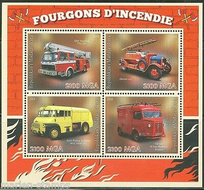 Madagascar  2014  Fire Engines  Sheet Mint Never Hinged
