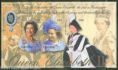 GAMBIA  IMPERFORATED 50th ANNIVERSARY CORONATION QE  II  SHEET SC#2702  MINT NH
