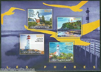 Central Africa 2014 Lighthouses  Sheet Mint Nh