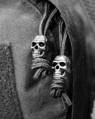 Pack10 Skull Cord Locks Stoppers Toggle Tactical Military Airsoft EMO Punk Silve