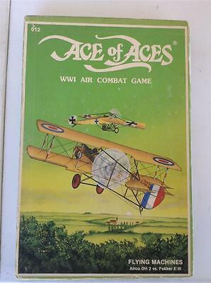 NOVA Ace of Aces WWI Air Combat Game Flying Machines Airco DH Fokker E III 1983
