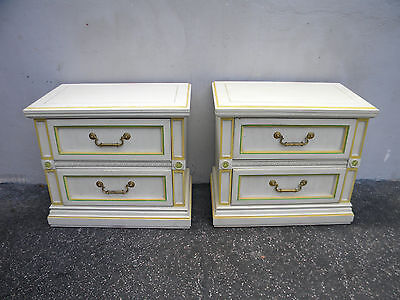 Pair of Large French Painted Nightstands End Side Tables  5231