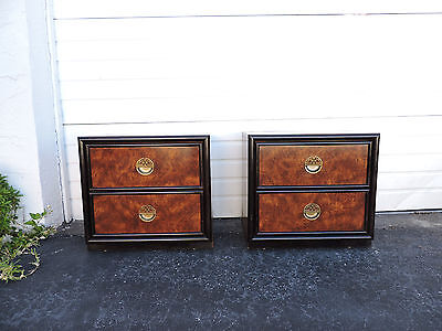 Pair of Hollywood Regency Mid Century Nightstands End Side Tables by Dixie 8363