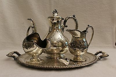 Dixon & Sons Sheffield EPBM 1829 Tea Set. Trumpit. Made In England. 5 piece set.