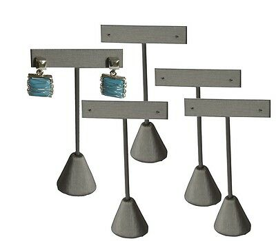 """Lot Of 5 Steel Gray Earring Display Stand Earring Tree 5 3/4""""h Earring Stand"""