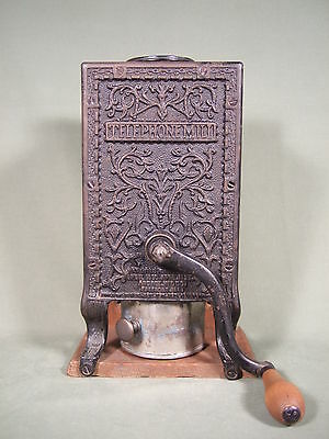 Antique 1893-1900 Arcade Telephone Coffee Grinder Mill No Lid  Made In U.s.a.