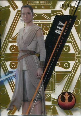 Star Wars 2016 High Tek Gold Parallel [50] Base Card SW-75 Rey