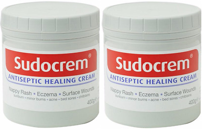 Sudocrem Antiseptic Healing Cream 400g Pack of 2 - Free Shipping From U.S