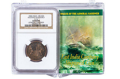 1808 India(Madras Presidency Copper 10 Cash Admiral Gardner NGC Genuine SKU47168