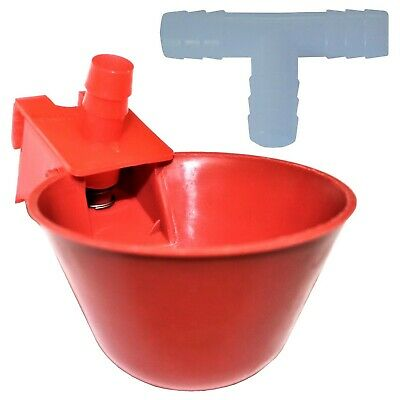 12  Rite Farm Products Auto Waterer Drinker Cup & Barbed Fitting Chicken Poultry