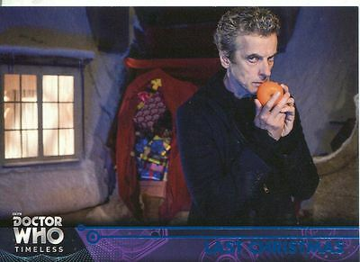 Doctor Who Timeless Blue Parallel [##/99] Base Card #98 Last Christmas