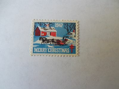 AMERICAN RED CROSS 1942 STAMP MERRY CHRISTMAS  EXCELLENT never hinged