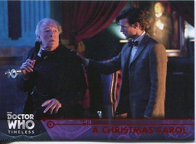 Doctor Who Timeless Red Parallel [##/25] Base Card #76 A Christmas Carol