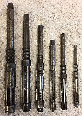 6 ADJUSTABLE REAMERS BLUE POINT / QUICK SET / MORSE / 27/32 and DOWN