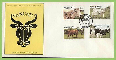 Vanuatu 1984 Cattle set on First Day Cover