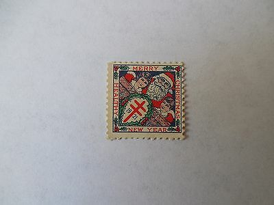 AMERICAN RED CROSS 1921 STAMP MERRY CHRISTMAS , Happy New Year